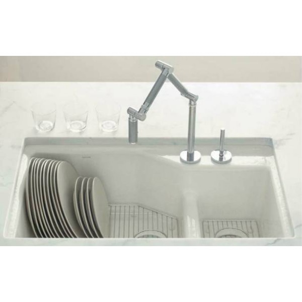 Kohler cast iron smart divide Indio sink