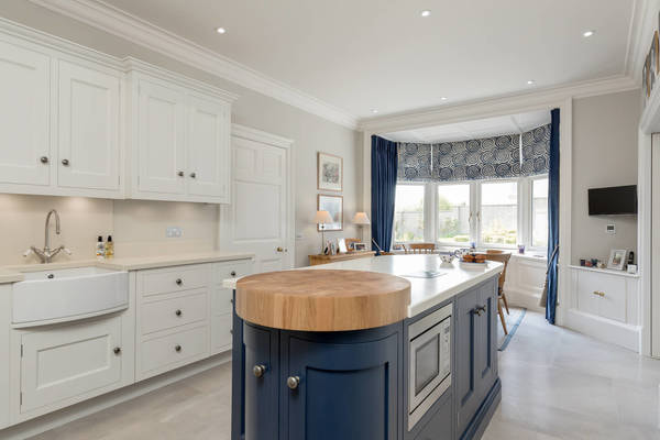 Christopher Howard kitchen in Navy & Pale Grey