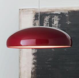 Italian designer pendant light in red
