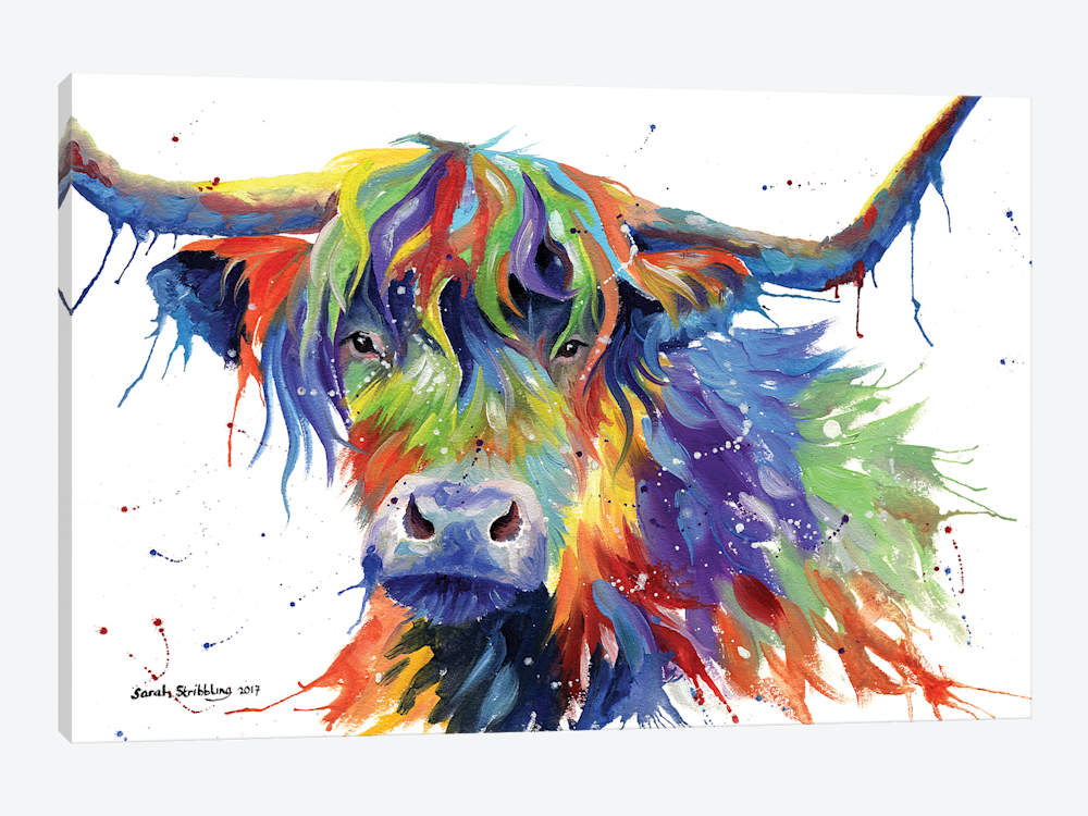 Colourful cow print