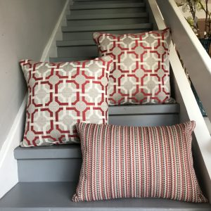 Cushions in Romo Orton Red Tulip
