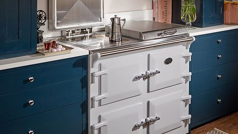 Everhot 110 cooker in white