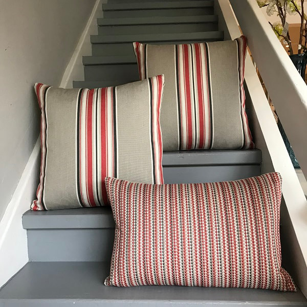 Romo Red Tulip cushions