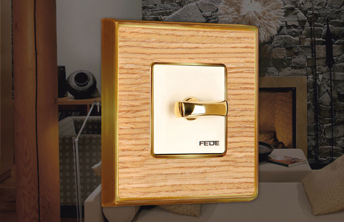 wood rotary light switch